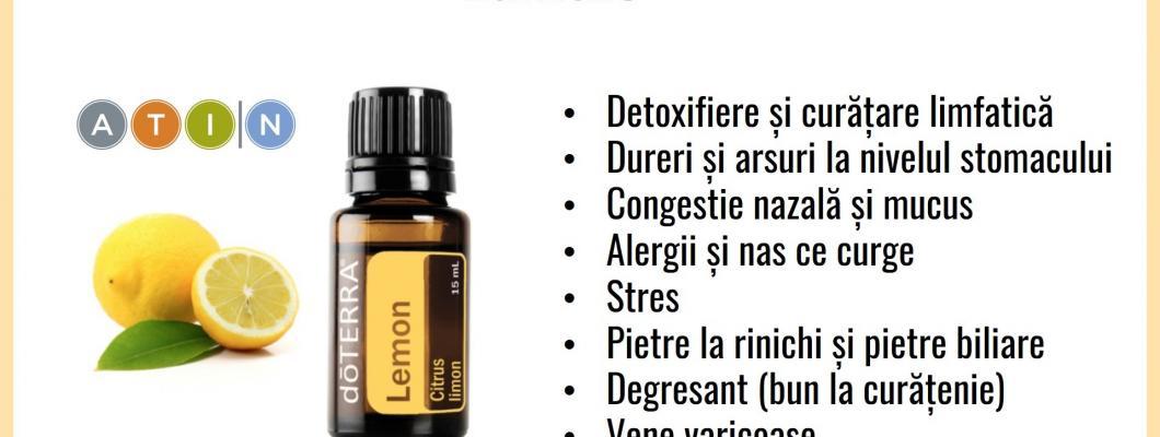 15 beneficii ale uleiului esential de lamaie (lemon) de la Doterra