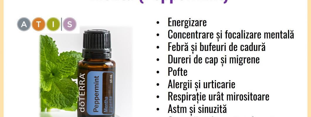 15 beneficii ale uleiului esential de menta(PEPPERMINT) de la doTERRA