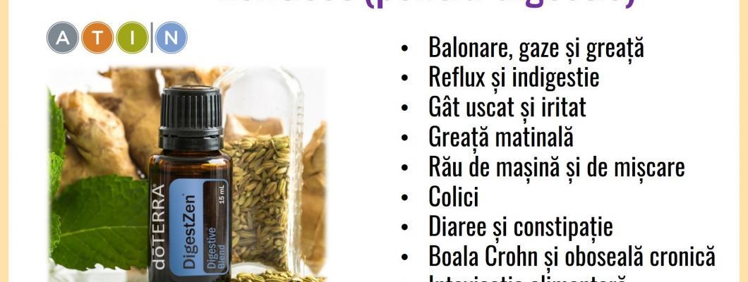 15 beneficii ale amestecului de uleiuri pentru suport digestiv (DIGESTZEN) de la doTERRA